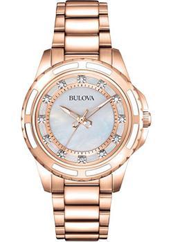Японские наручные  женские часы Bulova 98S141. Коллекция Diamonds