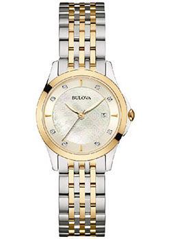 Японские наручные  женские часы Bulova 98S148. Коллекция Diamonds