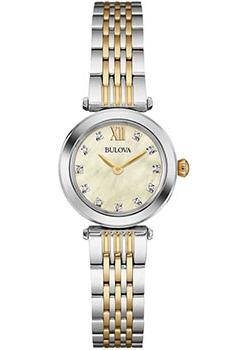 Японские наручные  женские часы Bulova 98S154. Коллекция Diamonds