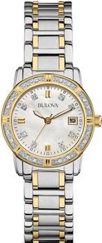 Японские наручные  женские часы Bulova 98W107. Коллекция Ladies Diamond