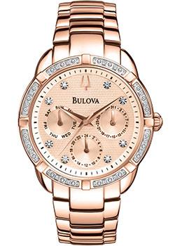 Японские наручные  женские часы Bulova 98W178. Коллекция Diamonds