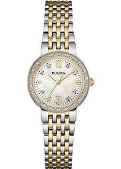 Японские наручные  женские часы Bulova 98W211. Коллекция Diamonds