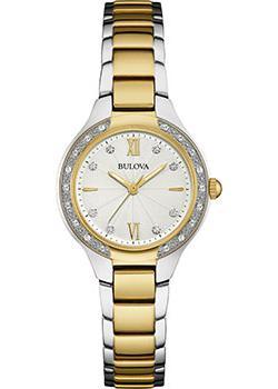 Японские наручные  женские часы Bulova 98W221. Коллекция Diamonds