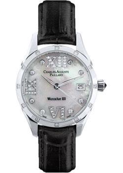 Швейцарские наручные  женские часы Charles Auguste Paillard 400.101.18.13S. Коллекция Watch Art III