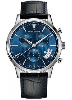 Швейцарские наручные  мужские часы Claude Bernard 01002-3BUIN. Коллекция Classic Gents Chronograph