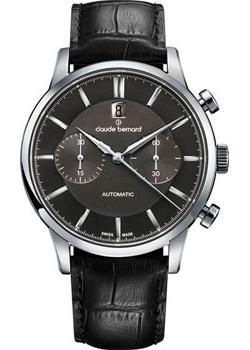 Швейцарские наручные  мужские часы Claude Bernard 08001-3NIN. Коллекция Classic Automatic Chronograph