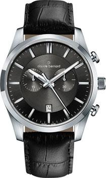 Швейцарские наручные  мужские часы Claude Bernard 10103-3NIN2. Коллекция Classic Gents Chronograph