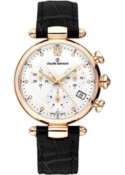 Швейцарские наручные  женские часы Claude Bernard 10215-37RAPR2. Коллекция Dress code Chronograph