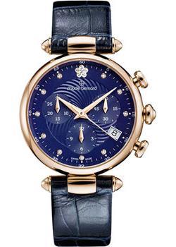 Швейцарские наручные  женские часы Claude Bernard 10215-37RBUIFR2. Коллекция Dress code Chronograph