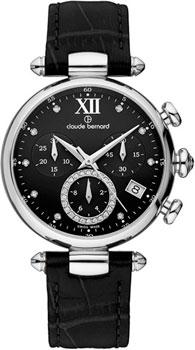 Швейцарские наручные  женские часы Claude Bernard 10215-3NPN1. Коллекция Dress code Chronograph
