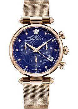 Швейцарские наручные  женские часы Claude Bernard 10216-37RBUIFR2. Коллекция Dress code Chronograph
