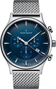 Швейцарские наручные  мужские часы Claude Bernard 10217-3MBUIN1. Коллекция Classic Gents Chronograph