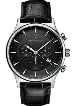Швейцарские наручные  мужские часы Claude Bernard 10217-3NIN1. Коллекция Classic Gents Chronograph