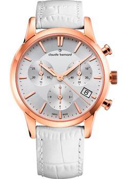 Швейцарские наручные  женские часы Claude Bernard 10231-37RAIR. Коллекция Classic Ladies Chronograph