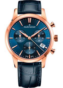 Швейцарские наручные  женские часы Claude Bernard 10231-37RBUIR. Коллекция Classic Ladies Chronograph
