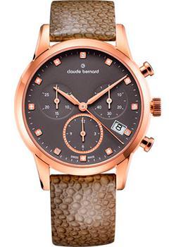 Швейцарские наручные  женские часы Claude Bernard 10231-37RTAPR1. Коллекция Classic Ladies Chronograph
