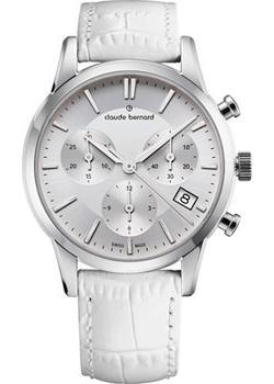 Швейцарские наручные  женские часы Claude Bernard 10231-3AIN. Коллекция Classic Ladies Chronograph