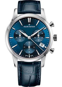 Швейцарские наручные  женские часы Claude Bernard 10231-3BUIN. Коллекция Classic Ladies Chronograph