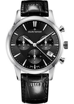 Швейцарские наручные  женские часы Claude Bernard 10231-3NIN. Коллекция Classic Ladies Chronograph
