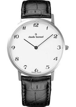 Швейцарские наручные мужские часы Claude Bernard 20202-3BB. Коллекция Classic Slim Line фото