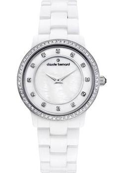 Швейцарские наручные  женские часы Claude Bernard 20203-BAB. Коллекция Dress code Ceramic with stones