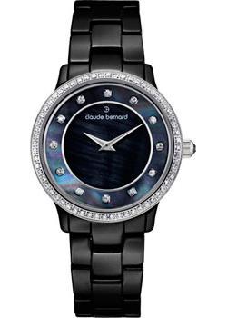 Швейцарские наручные  женские часы Claude Bernard 20203-NAN. Коллекция Dress code Ceramic with stones
