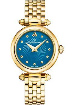 Швейцарские наручные  женские часы Claude Bernard 20209-37JMBUPID. Коллекция Dress Code Mini Quartz