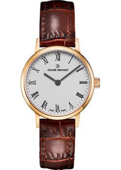 Швейцарские наручные  женские часы Claude Bernard 20215-37JBR. Коллекция Classic Ladies Slim Line