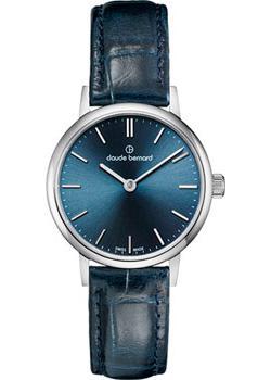 Швейцарские наручные  женские часы Claude Bernard 20215-3BUIN. Коллекция Classic Ladies Slim Line