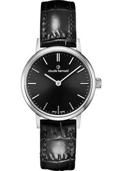 Швейцарские наручные  женские часы Claude Bernard 20215-3NIN. Коллекция Classic Ladies Slim Line