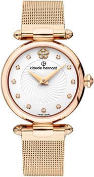 Швейцарские наручные  женские часы Claude Bernard 20500-37RAPR2. Коллекция Dress code
