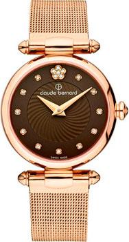 Швейцарские наручные  женские часы Claude Bernard 20500-37RBRPR2. Коллекция Dress code