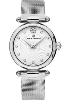 Швейцарские наручные  женские часы Claude Bernard 20500-3APN2. Коллекция Dress code with stones