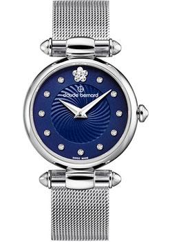 Швейцарские наручные  женские часы Claude Bernard 20500-3BUIFN2. Коллекция Dress code with stones