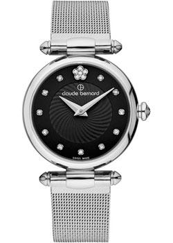 Швейцарские наручные  женские часы Claude Bernard 20500-3NPN2. Коллекция Dress code with stones