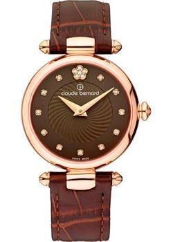 Швейцарские наручные  женские часы Claude Bernard 20501-37RBRPR2. Коллекция Dress code