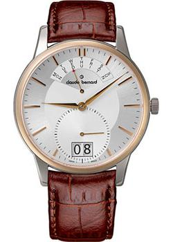 Швейцарские наручные  мужские часы Claude Bernard 34004-357RAIR. Коллекция Classic Gents Big Date Retrograde Day