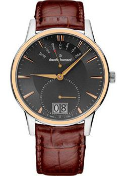 Швейцарские наручные  мужские часы Claude Bernard 34004-357RGIR. Коллекция Classic Gents Big Date Retrograde Day