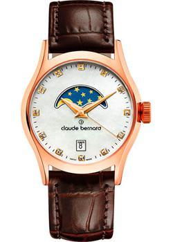 Швейцарские наручные  женские часы Claude Bernard 39010-37RNAR. Коллекция Classic Ladies moonphase