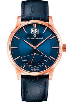 Швейцарские наручные  мужские часы Claude Bernard 41001-37RBUIR. Коллекция Classic Gents Big Date Retrograde Day