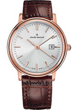 Швейцарские наручные  женские часы Claude Bernard 54005-37RAIR. Коллекция Classic Ladies Date