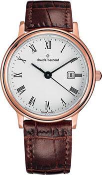Швейцарские наручные  женские часы Claude Bernard 54005-37RBR. Коллекция Classic Ladies Date