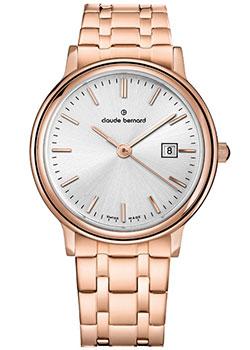 Швейцарские наручные  женские часы Claude Bernard 54005-37RMAIR. Коллекция Classic Ladies Date