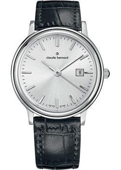 Швейцарские наручные  женские часы Claude Bernard 54005-3AIN. Коллекция Classic Ladies Date