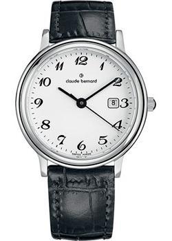 Швейцарские наручные  женские часы Claude Bernard 54005-3BB. Коллекция Classic Ladies Date