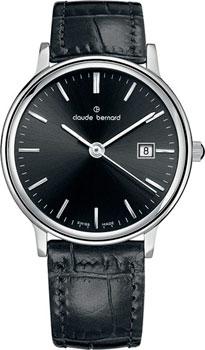 Швейцарские наручные  женские часы Claude Bernard 54005-3NIN. Коллекция Classic Ladies Date