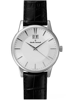 Швейцарские наручные  мужские часы Claude Bernard 63003-3AIN. Коллекция Northline