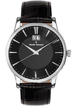 Швейцарские наручные  мужские часы Claude Bernard 63003-3NIN. Коллекция Northline
