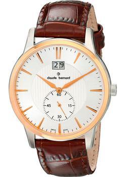 Швейцарские наручные мужские часы Claude Bernard 64005-357RAIR. Коллекция Classic Gents Big Date Small Second