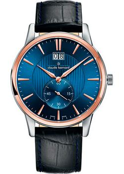 Швейцарские наручные мужские часы Claude Bernard 64005-357RBUIR. Коллекция Classic Gents Big Date Small Second